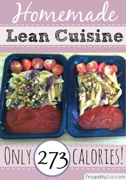 Homemade lean cuisine recipe. Looks easy and low calorie!
