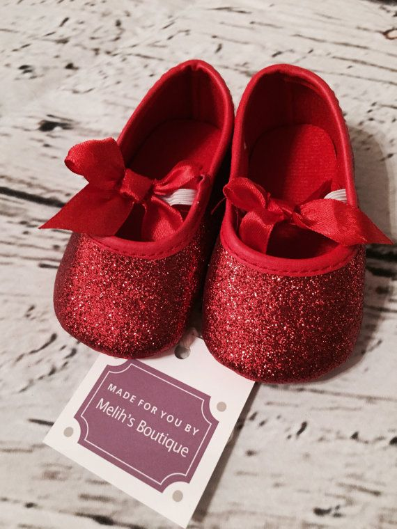 FREE SHIPPING red glitter shoe Valentine's Day by MelihsBoutique