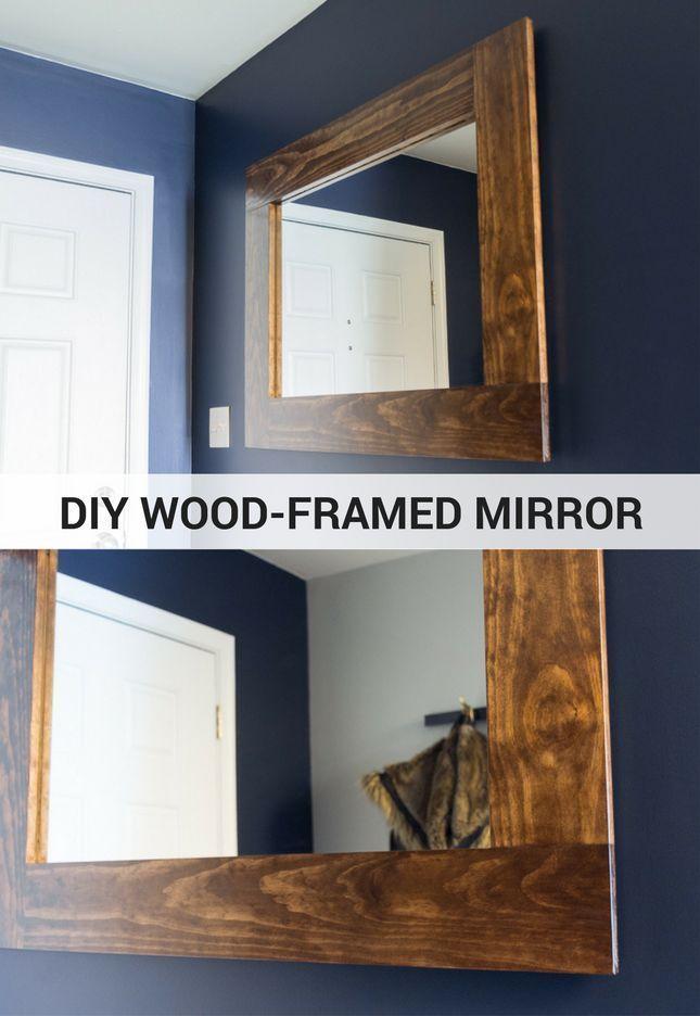 Diy Wood Framed Mirror Tutorial Pretty Handy Girl Diy Wood