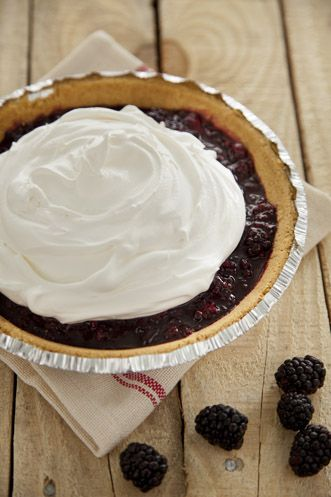 Lighter Ten Minute Blackberry Cream Pie