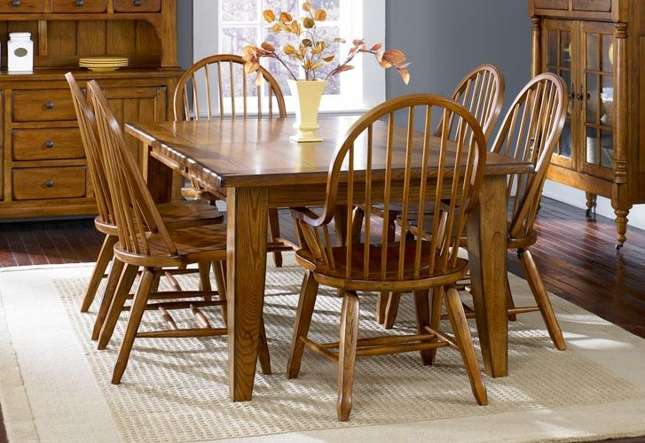 28 Treasures Rectangular Leg Dining Table Set Formal Dining Room Raleigh