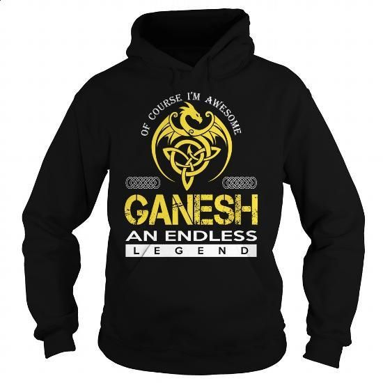 GANESH An Endless Legend (Dragon) - Last Name, Surname T-Shirt - #house warming…