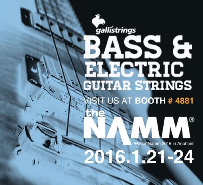 the music begins here January 21-24, 2016 Anaheim Convention Center · Anaheim, CA The NAMM Show Hall C - Booth #4881 @nammorg @gallistrings #strings #electricguitar #electricbass #namm16