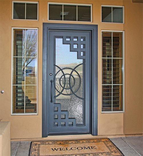Las 25 mejores ideas sobre puertas metalicas modernas en for Disenos de puertas para casas modernas