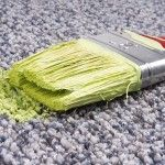 You might assume that spilled paint on your carpeting means that it must be replaced. Not so. Often, you can remove paint from carpet with nothing more than water, soap, and elbow grease. Here's how.