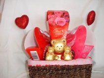 Valentine's Day Sweetheart Gift Basket Lindor Chocolates From Lindor  http://holiday-unique-gift-ideas.blogspot.com/2013/12/holiday-gift-baskets-best-holiday-gifts.html  #Holiday_Gift_Baskets #Holiday_Gift_Ideas #Holiday #Gift