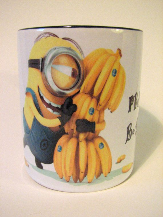 Ceramic mug minions my precious bananas by MargoMagicJewel on Etsy