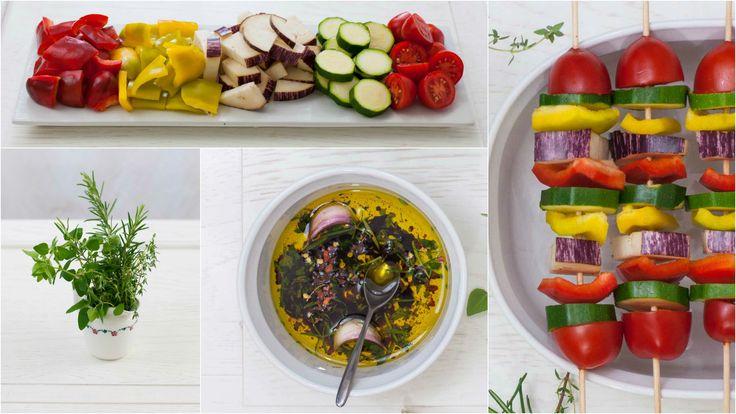 I miei spiedini di verdure alla griglia per www.ifood.it