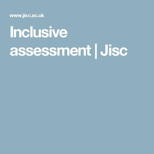 Inclusive assessment   Jisc