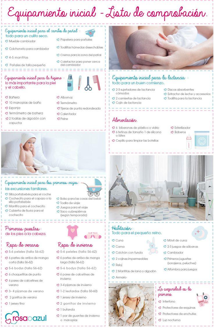 Lista de comprobación - La primera puesta para tú bebé  #bebe #embarazo #rosaoazul