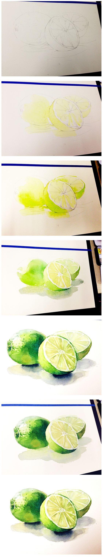 from lemon yellow to greens, glazes.
