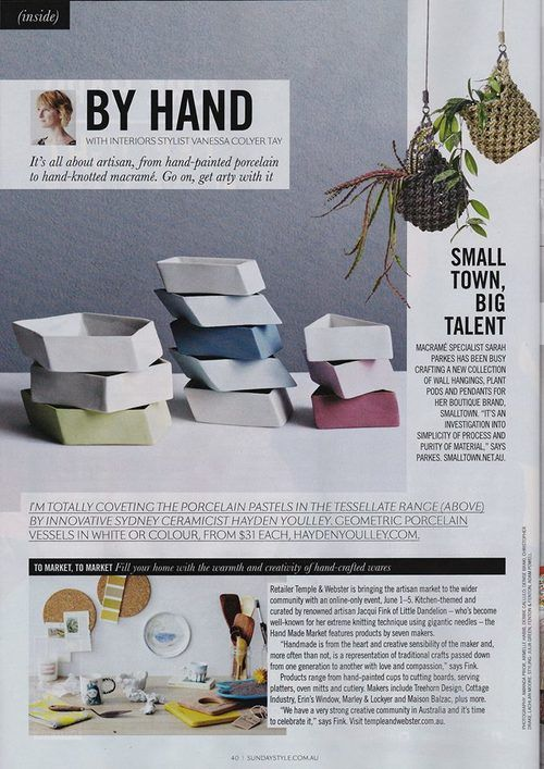 Tessellate featured in Sunday Style