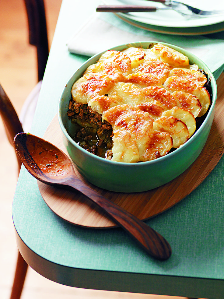 This traditional cottage pie recipe with a twist costs less than £6 to make for four people. The sliced potatoes make a sophisticated change.