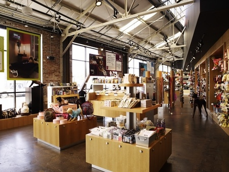 Wag Hotels Retail Store Store Designs Open Ceiling Exposed Brick Walls Ceiling Design