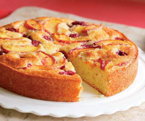Raspberry-Peach Cake Recipe