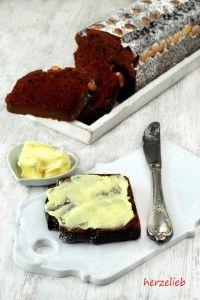 Dänischer Honigkuchen schmeckt super zum Kaffee oder zum Frühstück. Rezept von herzelieb.de