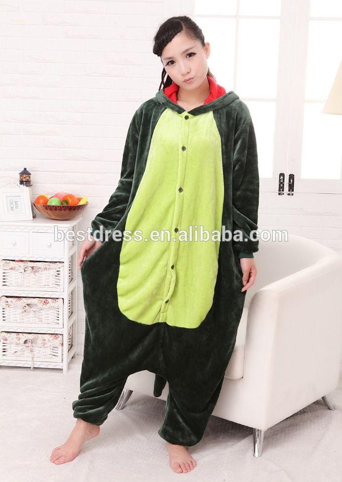 Adult Dinosaur Plush One Piece Animal Cosplay Costume Pajamas