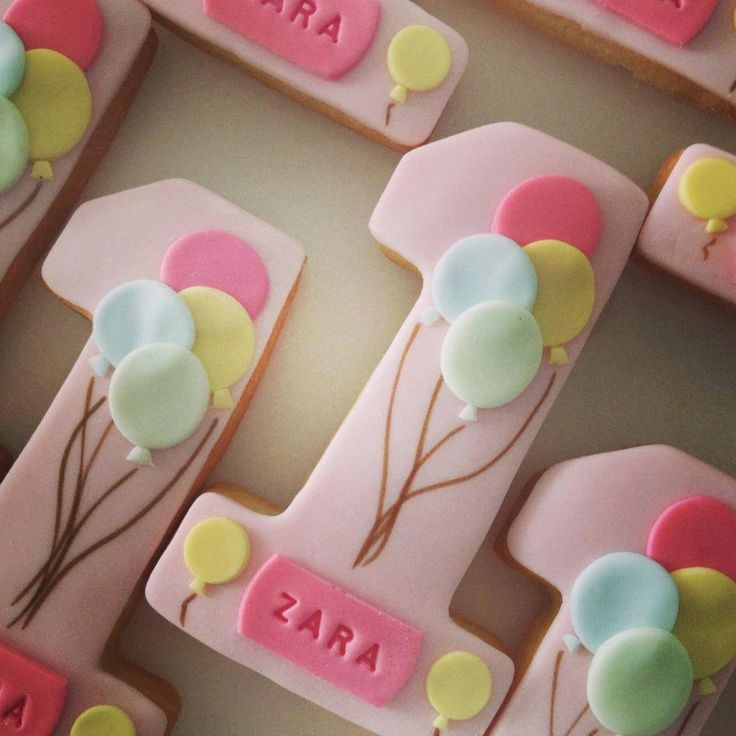 Number cookies, I need to do these for Nora's birthday!