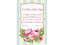 Svadobné oznámenie - SV043