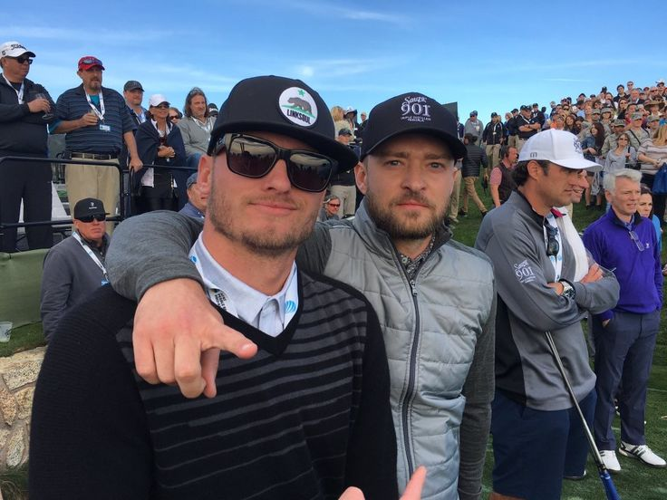 Josh Donaldson & Justin Timberlake at the AT&T Pebble Beach Pro Am Golf Tournament. Note to self: Dust off my clubs