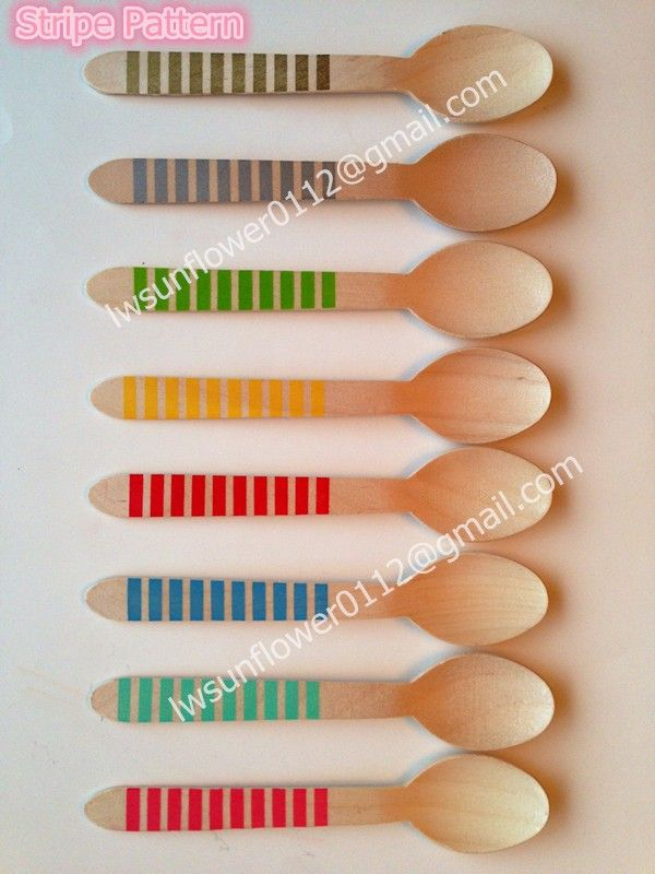 Free Shipping 100 pcs Disposable chevron&stripe&dot wooden spoons Natural Wood Dessert Table spoons,Wooden Utensils,wood Cutlery-in Event & Party Supplies from Home & Garden on Aliexpress.com | Alibaba Group