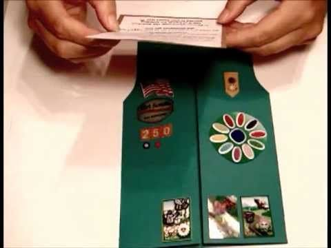 Girl Scouts - Daisy / Brownie Vest Invitations Cute for end of year ceremony