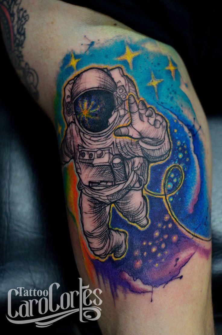 astronaut spaceship tattoo - photo #35