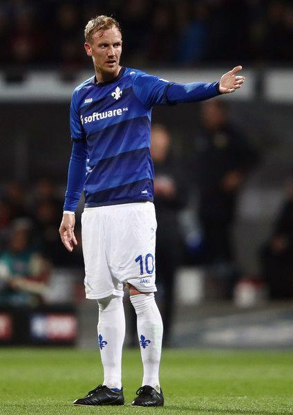 Jan Rosenthal of Darmstadt reacts during the Bundesliga match between SV Darmstadt 98 and Bayer 04 Leverkusen at Jonathan Heimes Stadion am Boellenfalltor on April 5, 2017 in Darmstadt, Germany.