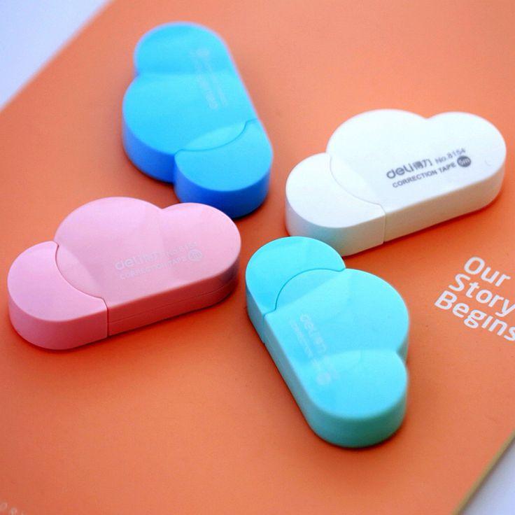 5mm X 5m Deli Cute Kawaii Cloud Mini Small Correction Tape Korean Sweet Stationery Novelty Office Kids School Supplies Children