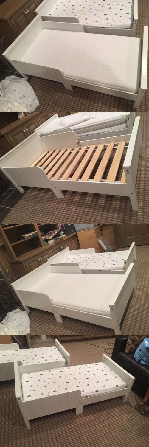 Kids Furniture: Baby Toddler Bed Kids Children Wood Bedroom Furniture W Safety Rails White -> BUY IT NOW ONLY: $20.5 on eBay!