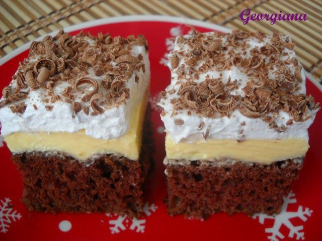 Este o prăjitură care se face destul de repede, din ingrediente accesibile, dar care este foarte bună!           Ingrediente:...