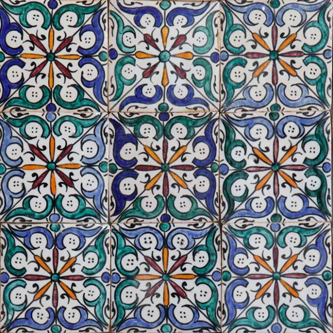 handbemalte fliese ihsan marokkanische handbemalte fliesen. Black Bedroom Furniture Sets. Home Design Ideas