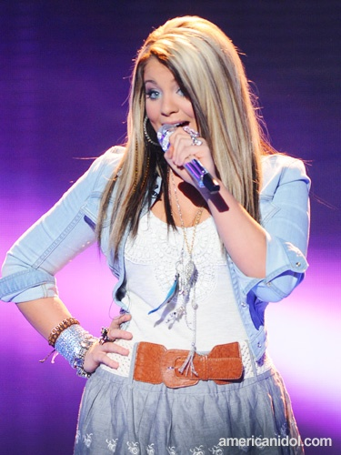 """I want my hair colored like this! Image detail for -Lauren Alaina closed the night of performances with """"Born To Fly"""" by ..."""