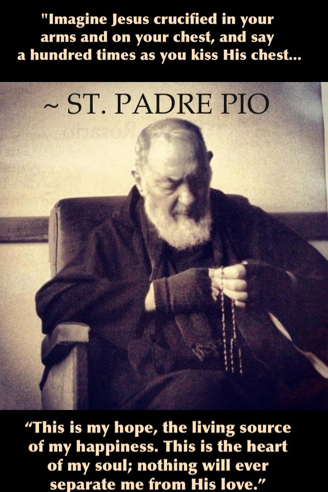 What a thought  to contemplate  during  your hour of Adoration .  Pray for us dearest  St. Padre Pio...