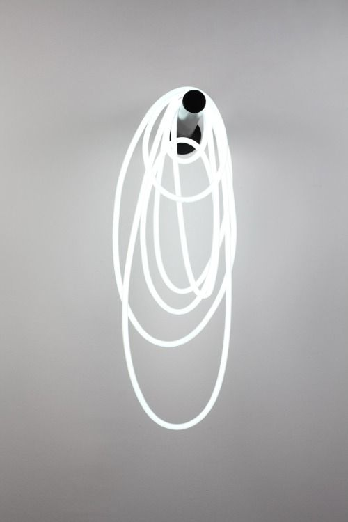 nineteeneightyfive: Mathieu Mercier, Untitled, 2011, neon, transformer and metal support, 59 x 23 x 33 cm