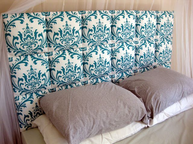 I'm doing this one day soon!: Guest Room, Fabric Headboard, Guest Bedroom, Diy Headboards, Upholstered Headboards