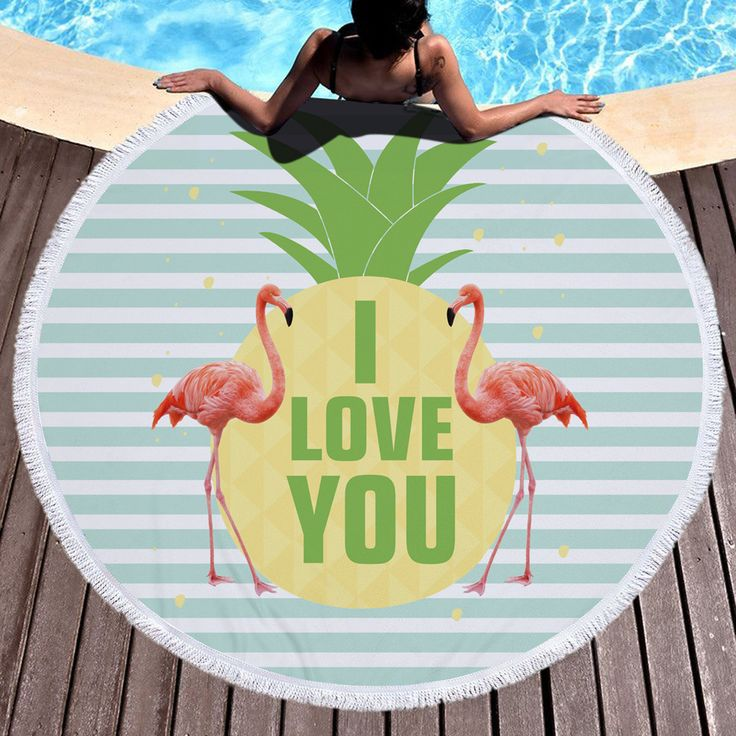 Ultra-fine Fiber Printing Flamingo Round Beach Towel Thick Yoga Mat Water-absorbing Microfiber Bath Towel Bathroom For Adults ** AliExpress Affiliate's buyable pin. Click the image for detailed description on www.aliexpress.com #Yogawears