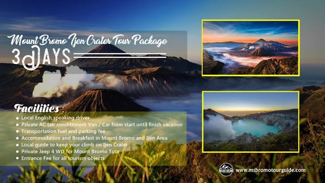 Mount Bromo Ijen Crater Tour Package 3 Days is combination volcano tour package that possible reached from Surabaya, Malang or Banyuwangi. Both of Mount Bromo and Ijen volcano mostly visited tourism in East Java, Indonesia.