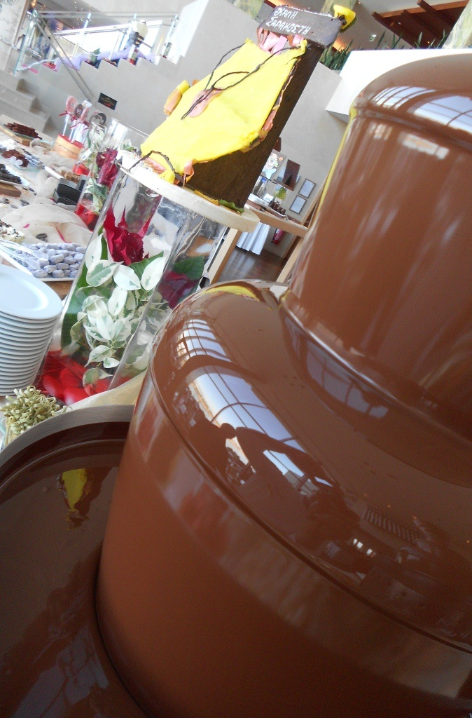 The sweetest fountain...    'Chocolating 2012' event, held at the Sofa Bar of The Westin Athens hotel.