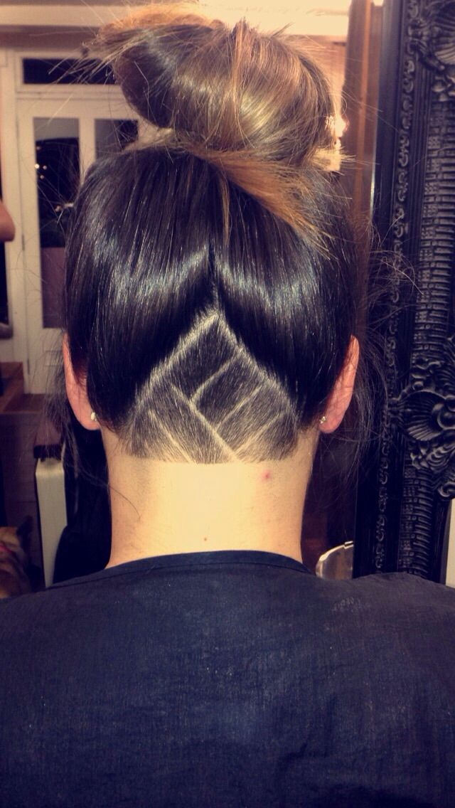 Brilliant 17 Best Images About Undercuts On Pinterest Tattoo On Neck Nape Short Hairstyles For Black Women Fulllsitofus
