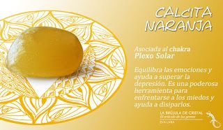 Calcita naranja. Chakra Plexo Solar. #labrujuladecristal LA BRUJULA DE CRISTAL, Eva Lara.