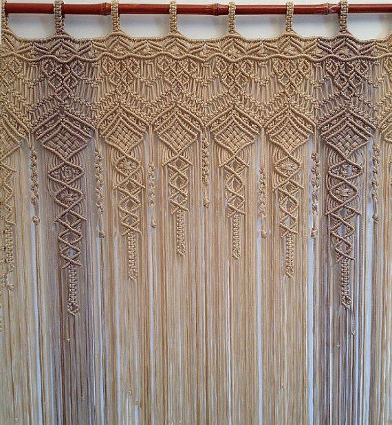 Macrame Curtain Large macrame multicolor by mislanascreativas