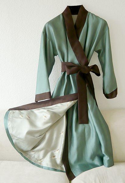 Morgenmantel im Kimonostyle