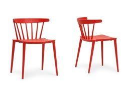 Baxton Studio Finchum Red Plastic Stackable Modern Dining Chair (Set of 2) Baxton Studio Finchum Red Plastic Stackable Modern Dining Chair (Set of 2), wholesale furniture, restaurant furniture, hotel furniture, commercial furniture