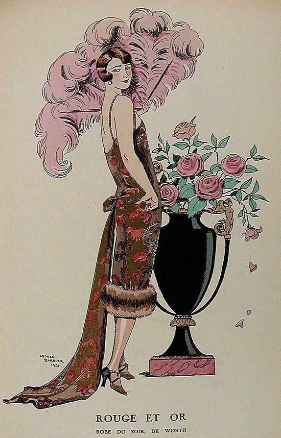George barbier erotic fashion art deco illustrator