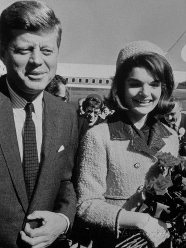 President John F. Kennedy and Wife Arriving at Airport