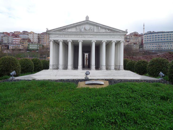 Artemis-Tempel von Ephesus, als Modell in Byzantium, dem heutigen Istanbul