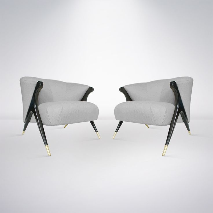 Pair of Modernist Karpen Lounge Chairs, 1950s image 2