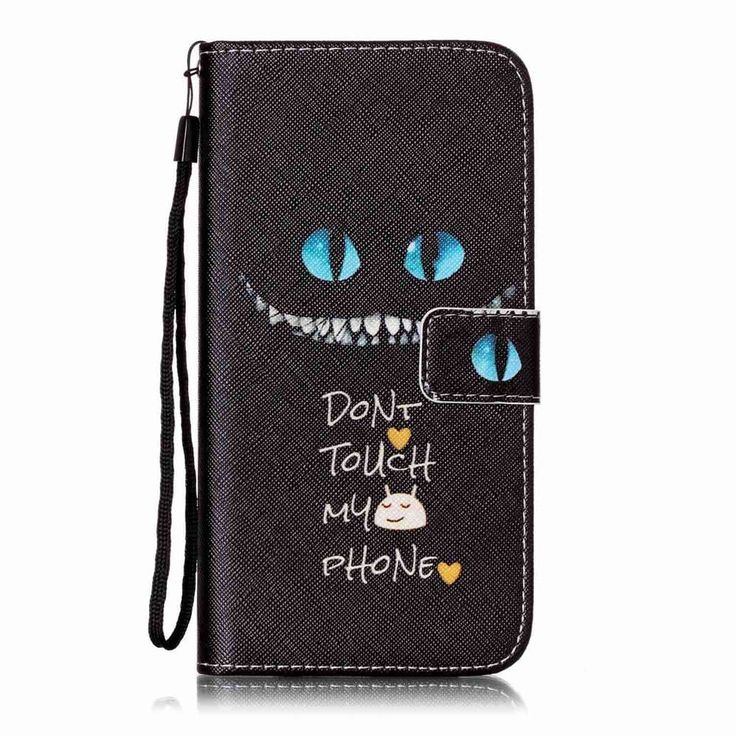 Blue Eyes Pattern PU Leather Flip Wallet Case for iPhone 7 Plus / 8 Plus - BLACK
