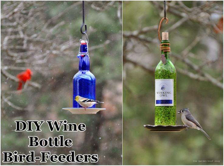 DIY : Wine Bottle Bird-Feeders | DIY & Crafts Tutorials